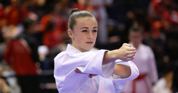 Perrine Mortreux, coupe de France kata 2015