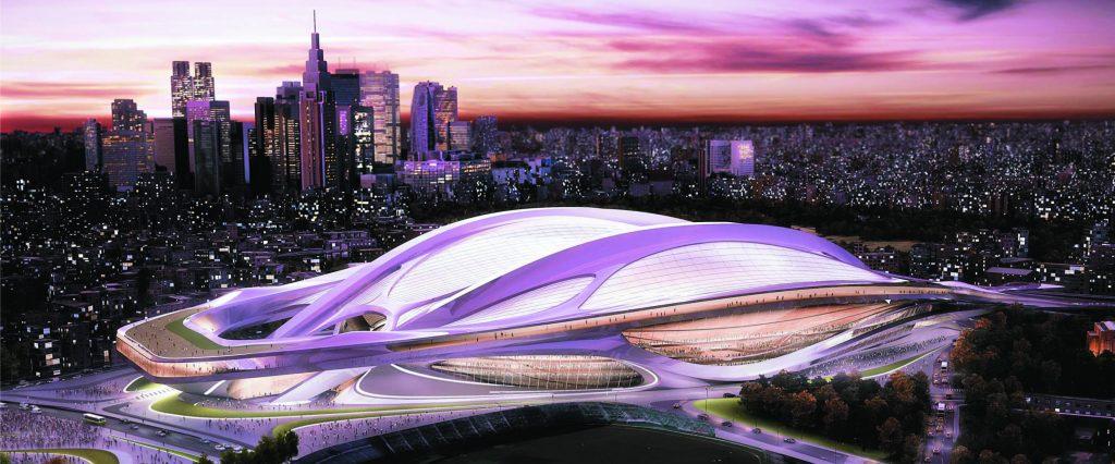 Le futur stade olympique de Tokyo. © DR
