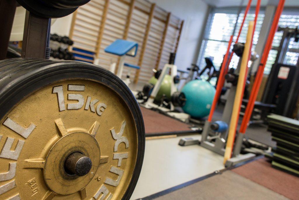 Les athlètes ont accès à tous les équipements du CREPS, parmi lesquels les salles de musculation.