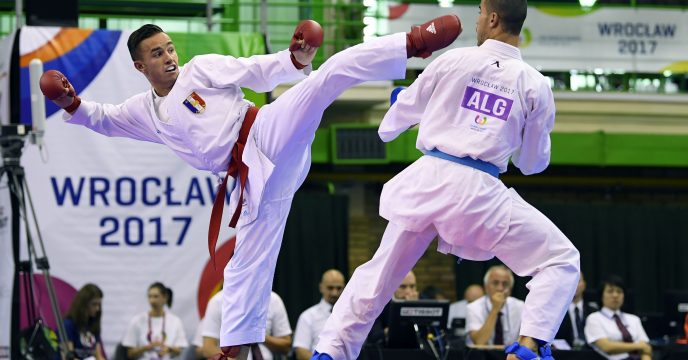 Steven Dacosta (FRA) competes in Karate during The World Games 2017 in Wroclaw, Poland, Day 6, on July 25th, 2017 - Photo Julien Crosnier / KMSP / DPPI