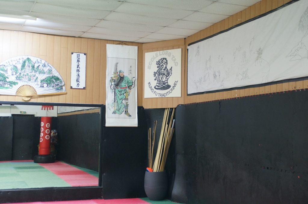 Autre salle, autre ambiance pour le cours d'Hapkido.